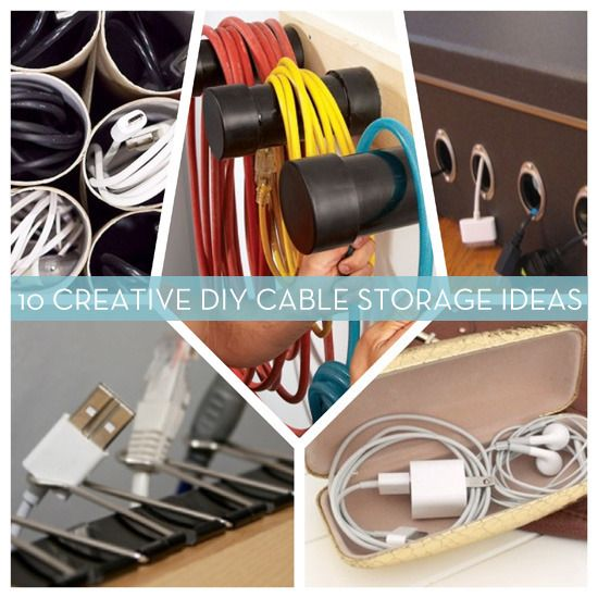 Roundup: 10 DIY Cord and Cable Organizers – lots more tutorials on curbly. must