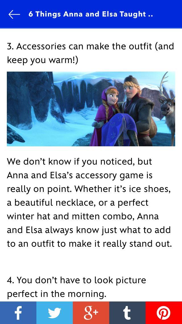 Frozen Fashion Tip