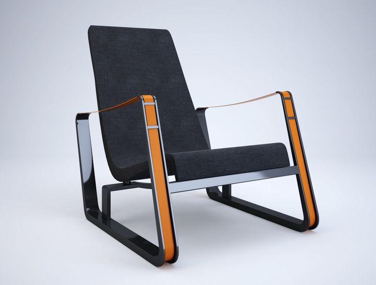 MID-CENTURIA - Jean Prouvé, Cité lounge chair