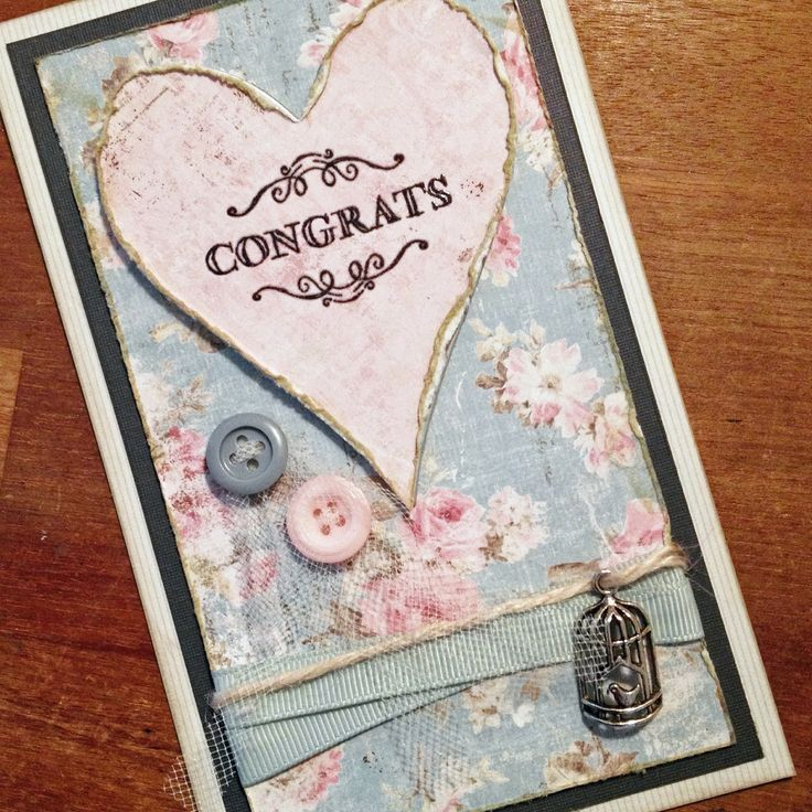 Romantic homemade card