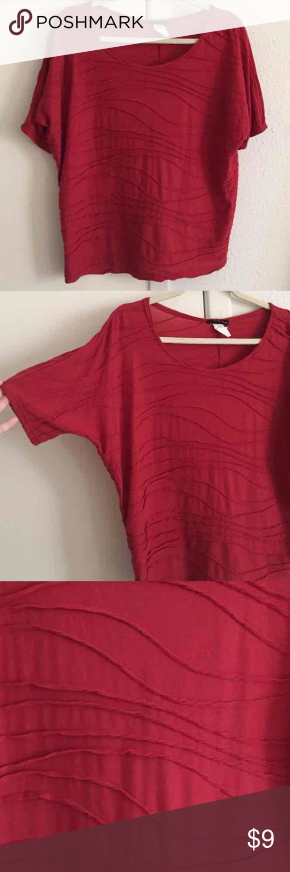 One Clothing Red batwing blouse top - size Small Worn once  Size: small  Color: Red one clothing Tops Blouses