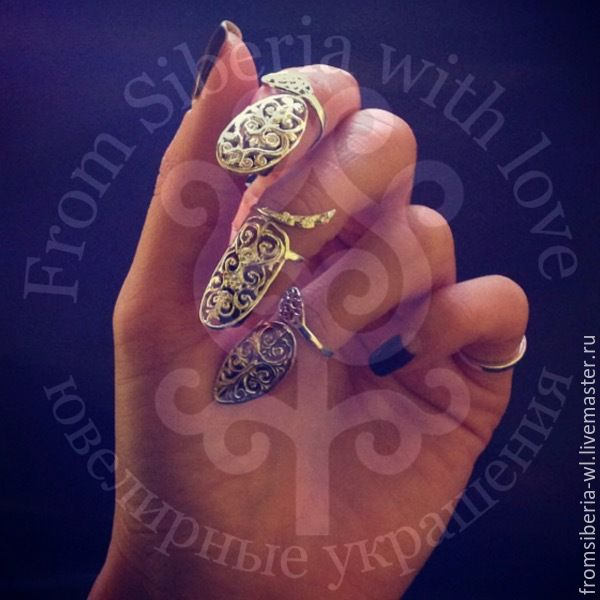 Купить Кольцо на ноготь - кольцо на ноготь, кольцо ноготь, nail ring, серебряный маникюр