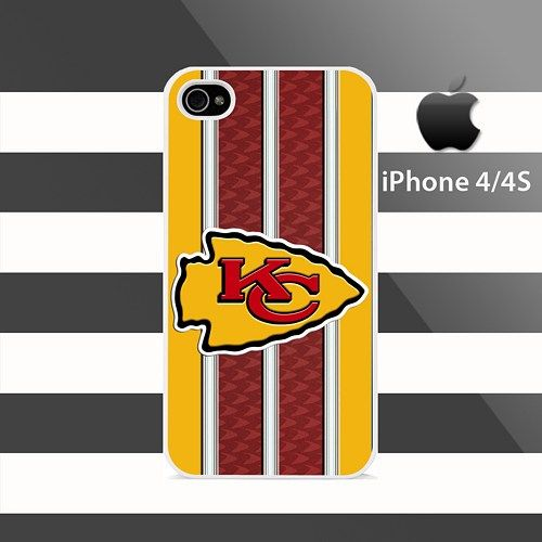 KANSAS CITY CHIEFS Pattern Stripes iphone 4 4s Rubber Case Cover