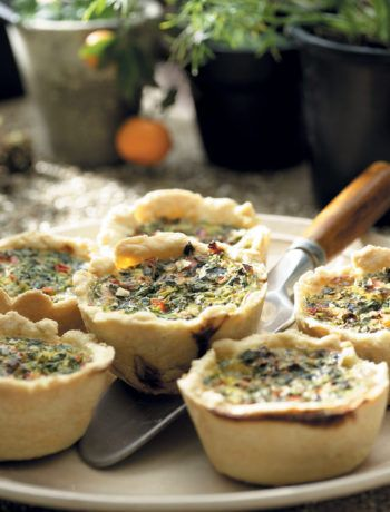 Baby marrow, pepper and spinach muffins