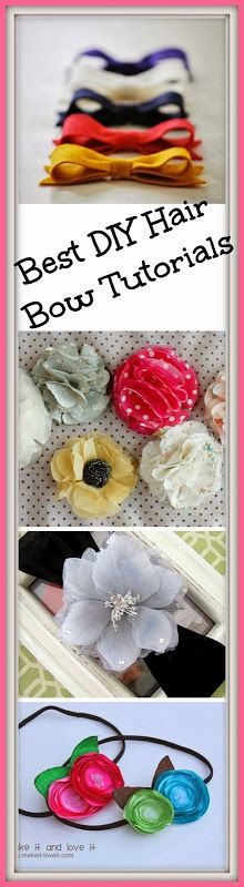 Best DIY Hair Bow Tutorials - For infants, young girls and even adults! Easy hair bow tutorials with simple instructions.