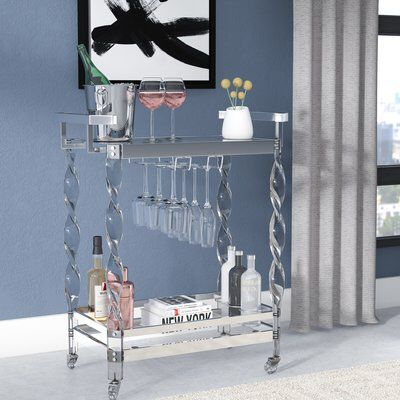 Colbey Contemporary Bar Cart