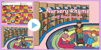 Nursery Rhyme Self-Registration PowerPoint - Australia, EYLF, Nursery rhymes, early years, self registration, daily routine, classroom management