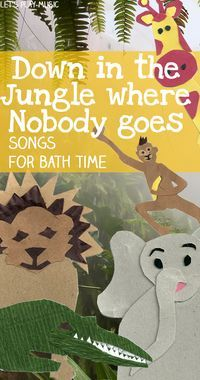 You're sure to monkey around in the tub with this fun beth time song! What other animals would you add to the party? (via Let's Play Music)