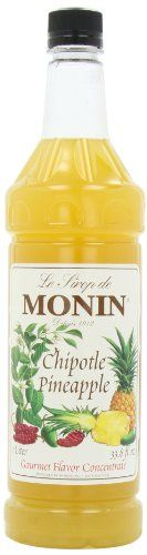 Monin Flavored Syrup Chiptole Pineapple 338Ounce Plastic Bottles Pack of 4 ** Learn more by visiting the image link. (This is an affiliate link)