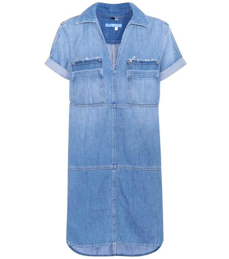 "7 For All Mankind - Popover denim dress - Crafted from lightweight denim in a vintage-inspired hue the label calls ""coastal blue"", 7 For All Mankind's Popover denim dress is the perfect everyday dress for summer. Team yours with sneakers and a red lip at the weekend. seen @ www.mytheresa.com"
