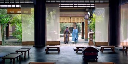 A parlour in a traditional Chinese residential garden, which could be used as a venue for casual sitting or formal banquet. (from Chinese TV drama Nirvana in Fire) https://plus.google.com/+Simplifyyourlifepluschina/posts/6dyZrT8dupx