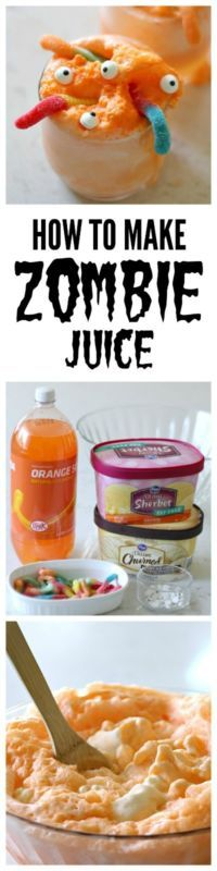 Making this Zombie Juice for our Halloween Party!