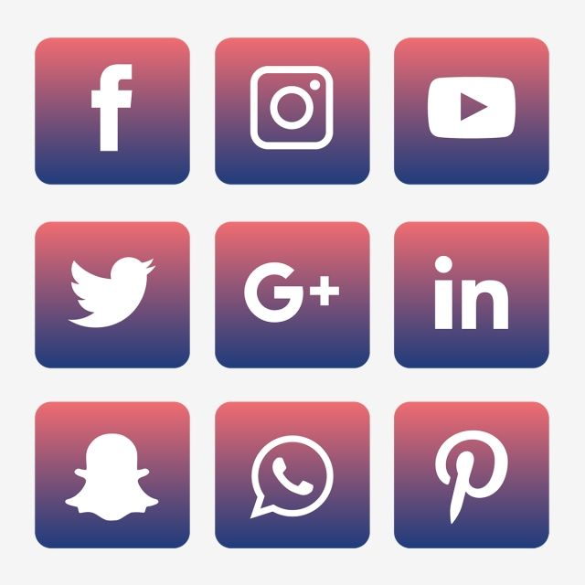 Social Media Icons Set Logo Vector Illustrator Social Icons Logo Icons Media Icons Png And Vector With Transparent Background For Free Download Social Media Icons Social Icons Logo Design Free Templates