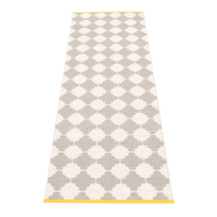 Pappelina | Marre Warm Grey Vanilla Rug Mustard Stripe | Runner Rug