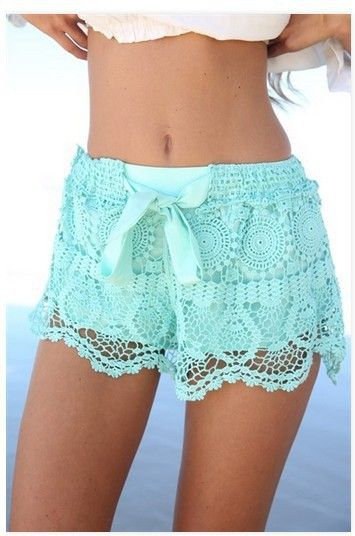 Fashion lace shorts SA710CE...I would like them a bit longer, but these are adorable!  Love this color!!