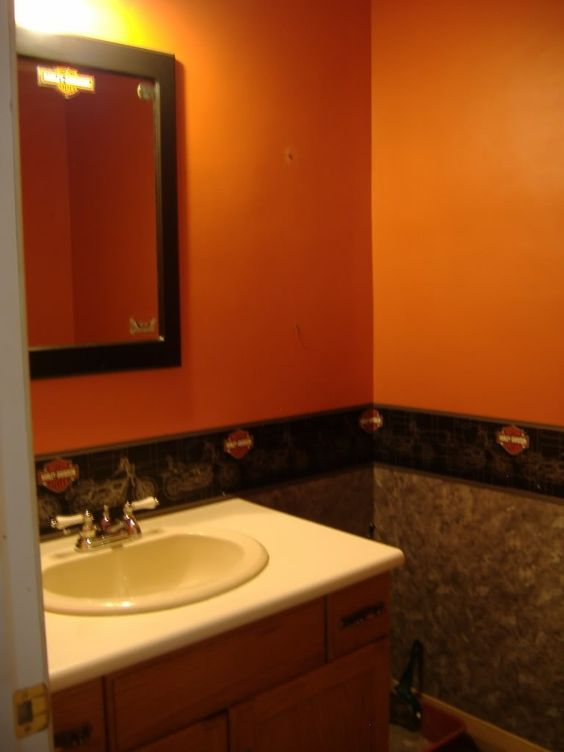17 best ideas about orange bathroom decor on pinterest for Bathroom ideas orange