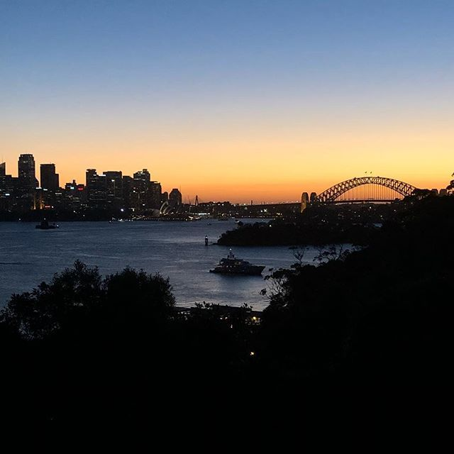 #sunset over #sydneyharbour  watching the sun go down before the @jamesreyne_official concert #twilightattaronga