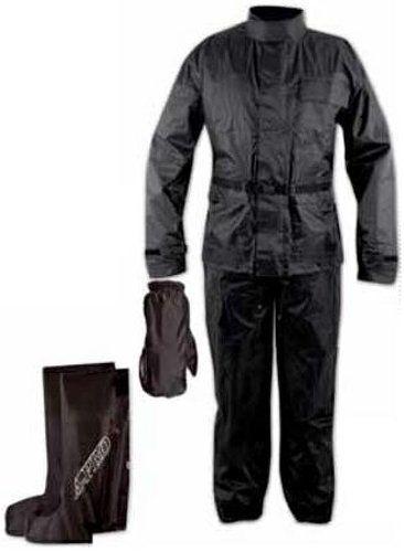 Ganzk�rper Wasserdicht Regenanzug Handschuhe Stiefel Motorradkombi Schwarz M