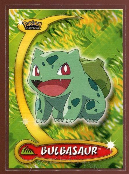 #011 Bulbasaur - Topps Pokemon Cards - Pokemon Advanced Challenge Trading Cards - $