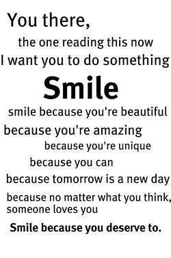 Smile: )