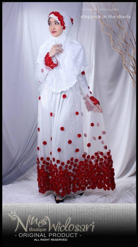 PM.BUNGA MERAH MATERIAL: IDR.8.000.000 #BUSANA MUSLIM,#WEDDING DRESS,#SYAR'I,#HIJAB INSTAN