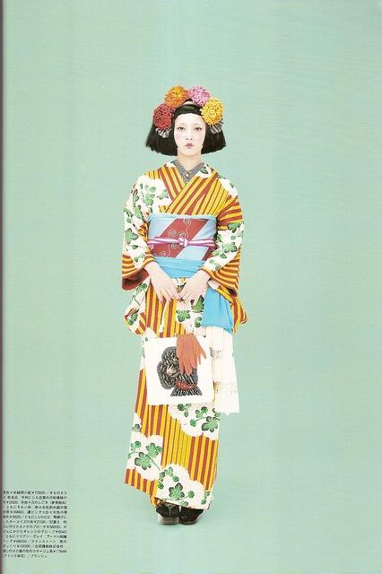 Kimono-hime issue 9. Fashion shoot page 8 by Satomi Grim, via Flickr