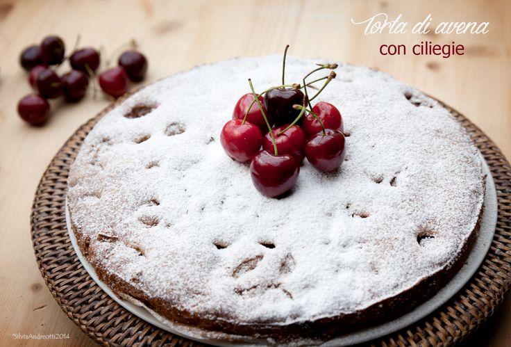 La torta di avena e ciliegie di Eloise, ricetta senza burro