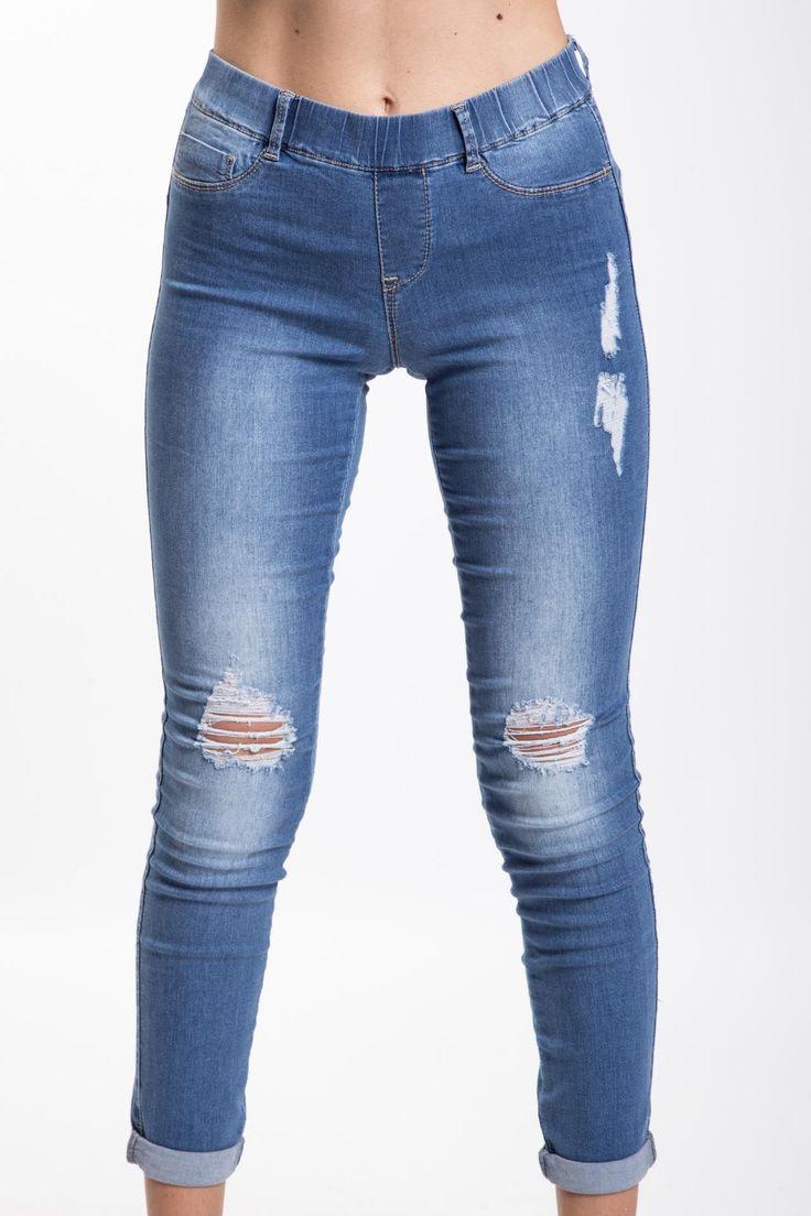 Leggings con strappi