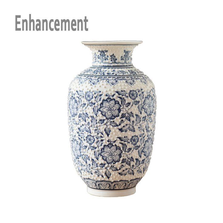 Cheap home decor vase, Buy Quality porcelain vase directly from China ceramic flower vase Suppliers: Blue and White Porcelain Vases Nipple Protrusion Interlocking Lotus Design Ceramic Flower Vase Handmade Home Decoration Vases