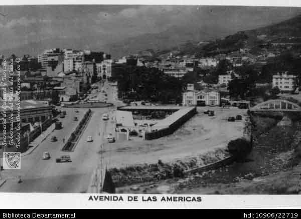 Cali antigua: Avenida las Américas. Cali. 1930.