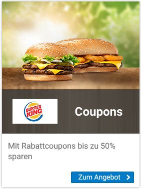 Rabattcoupons für Burgerking