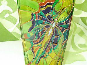 Расписываем стеклянную вазу | Ярмарка Мастеров - ручная работа, handmade