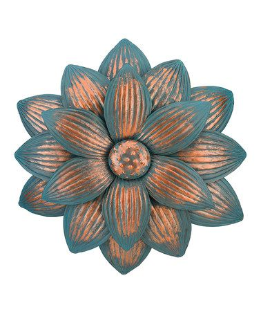 Look what I found on #zulily! Dahlia Patina Flower Outdoor Wall Décor #zulilyfinds