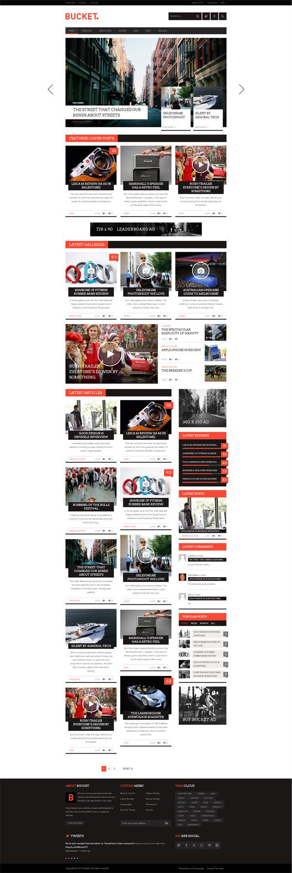 BUCKET - Magazine Style WordPress Blog Theme