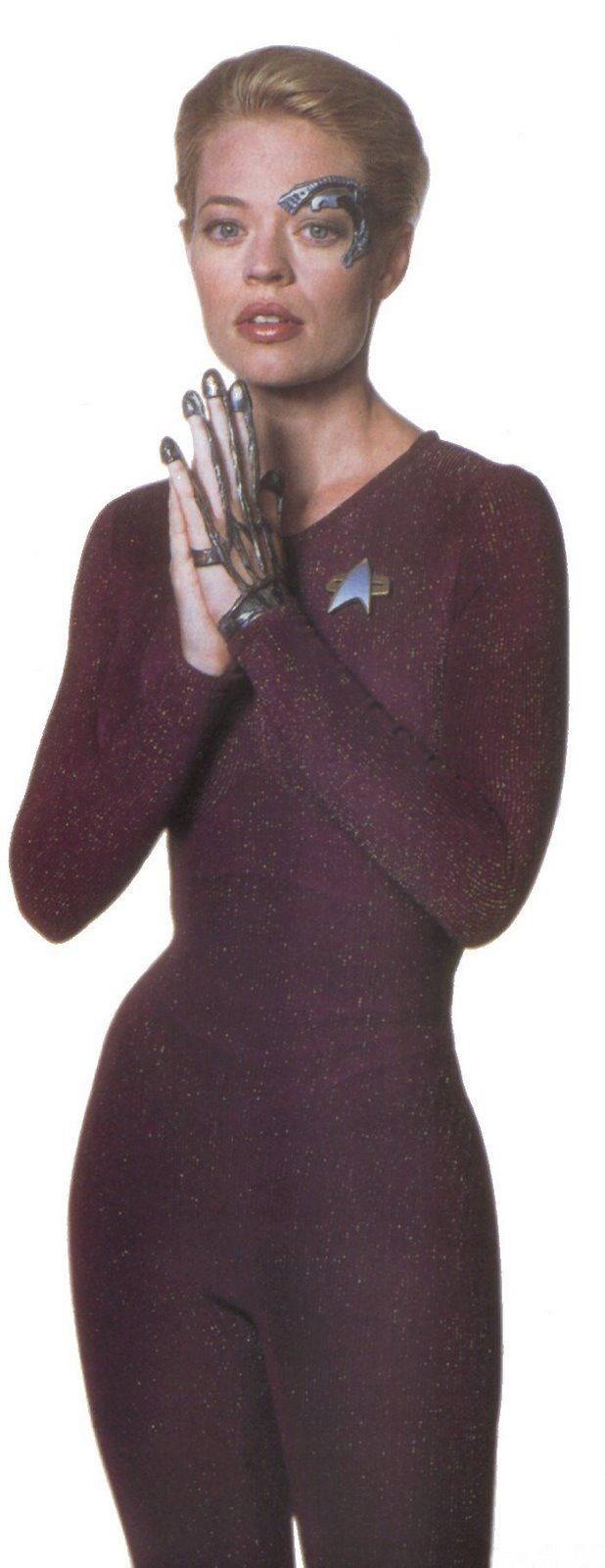 Some Photos Of A Screen Used Brown Catsuit Worn By The Beautiful Jeri Ryan In Her Portrayal Of Seven Of Nine F Star Trek Costume Star Trek Characters Star Trek