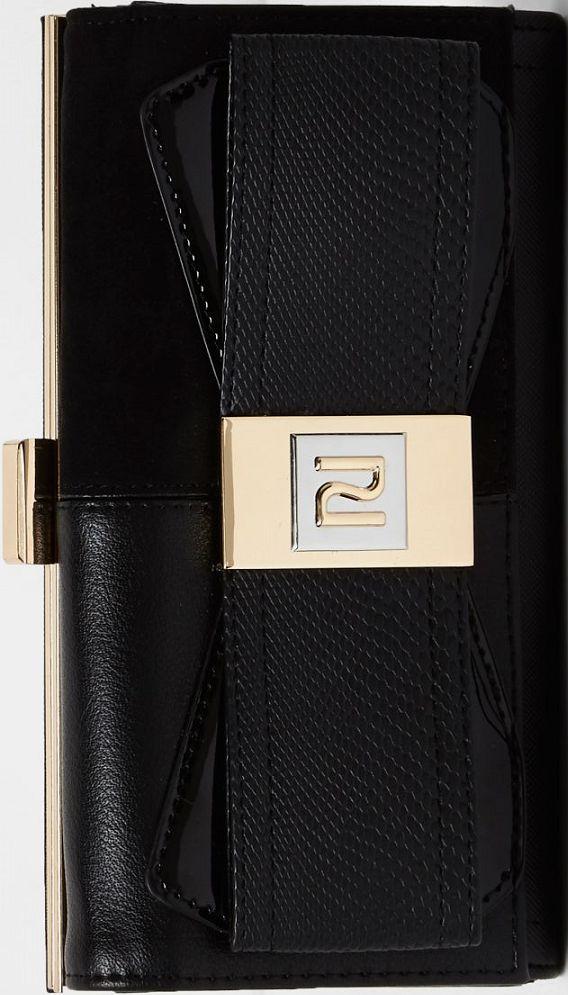 •Website: http://www.cuteandstylishbags.com/portfolio/river-island-black-panel-bow-zip-purse/ •Item: River Island Black Panel Bow Zip Purse