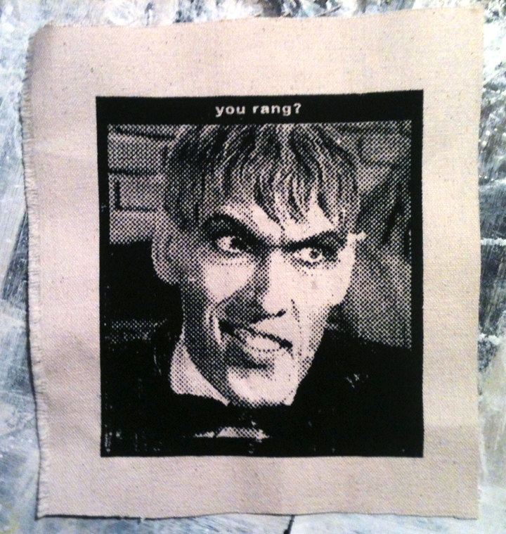LURCH Addams Family Butler Screenprint Patch. $6.00, via Etsy.