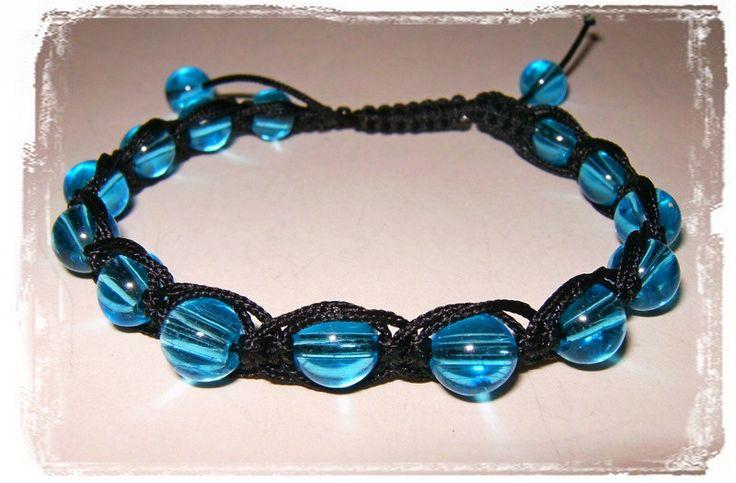 Bransoletka niebieska - Amber-Box - Bransoletki