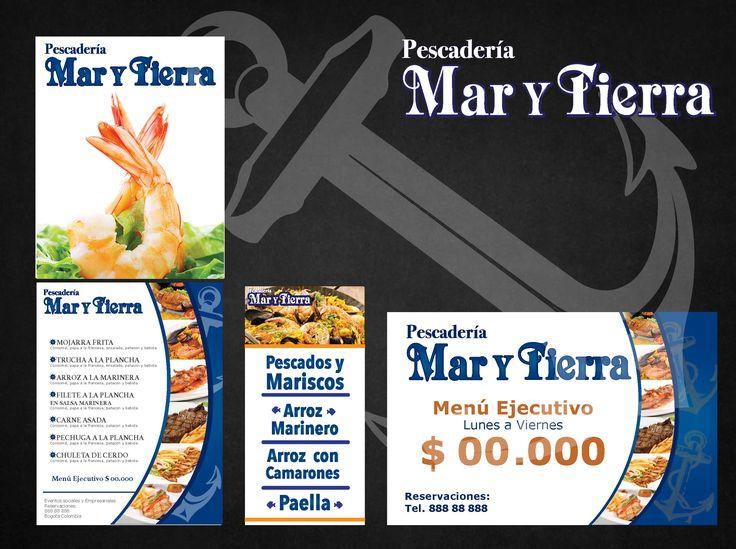 Material POP Restaurante y Pescadería Mar y Tierra