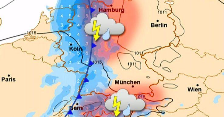 Am Dienstag bringt eine Kaltfront vielerorts starke Niederschläge und Gewitter. Im Westen fallen dabei die Temperaturen unter die 30-Grad-Marke. Wo Sie trotzdem nicht auf einen Tag am Badesee verzichten müssen, sehen Sie im Video.