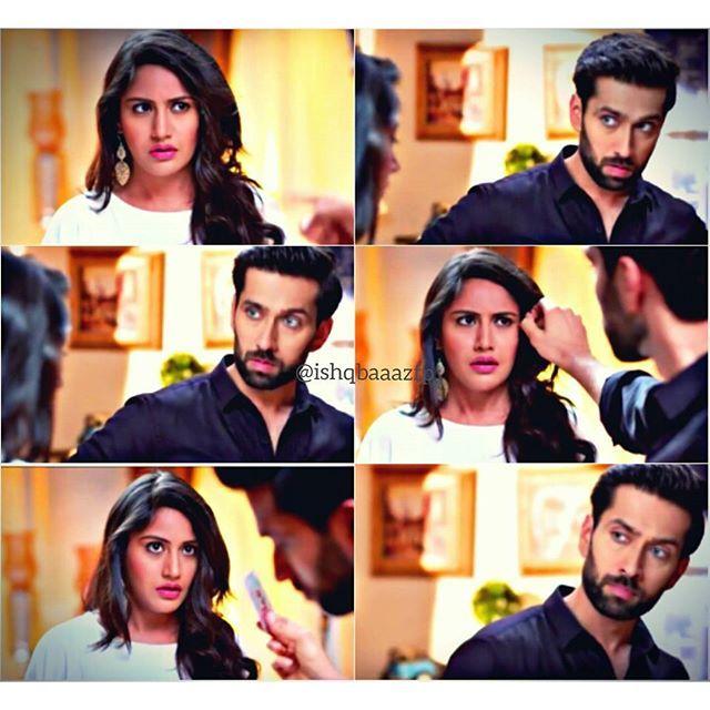 The awkward moment after their fall & he takes the medicine out if her hair!  @nakuulmehta @officialsurbhic  #ishqbaaaz #nakuulmehta #shivaaysinghoberoi #surbhichandna #annika #shivika #starplus #hindiserial #indianserial #tellywood
