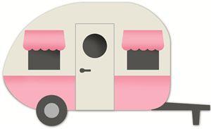 Silhouette Online Store - View Design #9850: caravan camper