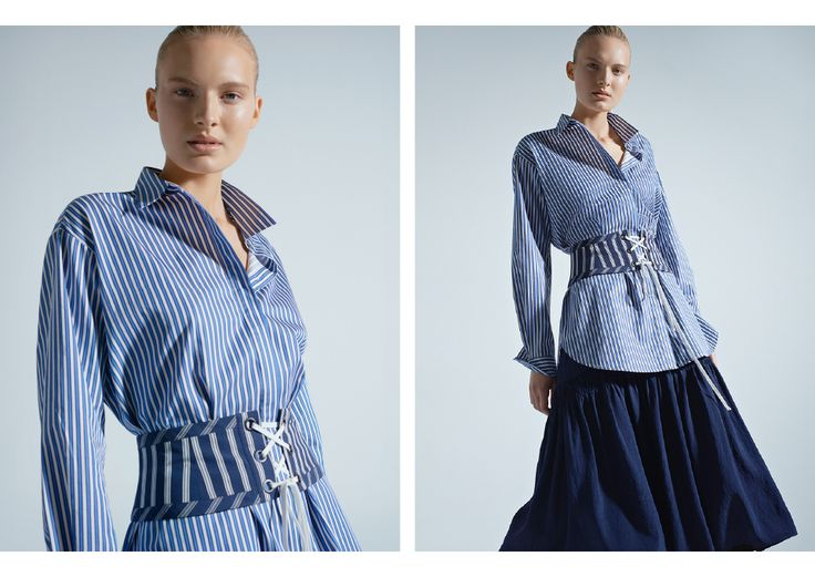 A beautiful shirt with waist definition is perfect for a Pear shape