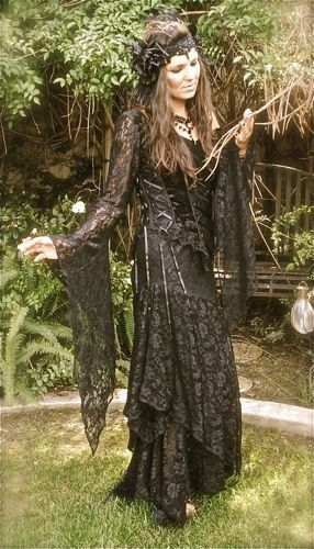Gypsy Fairy Stevie Nicks Style Velvet and Lace Set Custom. $475.00, via Etsy.