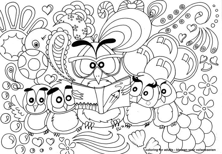 coloring for adults - kleuren voor volwassenen