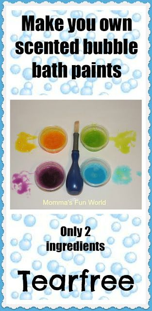 Homemade scented bath paints ~ Easy to make and this would make a great, inexpensive gift for little ones