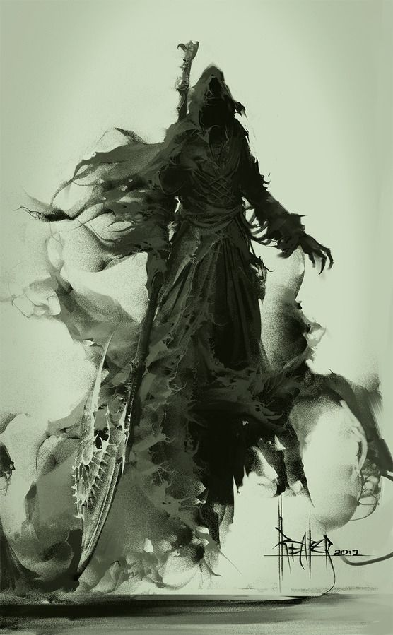 """Grim Reaper: """"#Death and Fear of Death,"""" by Marat-Ars."""