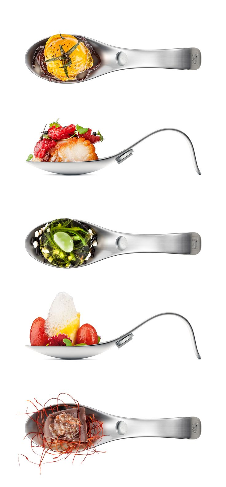 Bite-sized appetizers in any spoon makes it more fun! ChezValois Molecule-R Aroma. Playing with the smell, and the taste