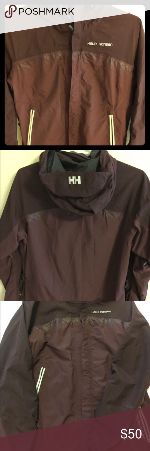 Helly Hansen Burgundy Helly Tech Jacket Helly Hansen Burgundy Helly Tech Medium Jacket for snowboarding/skiing. Gently used. Helly Hansen Jackets & Coats Utility Jackets