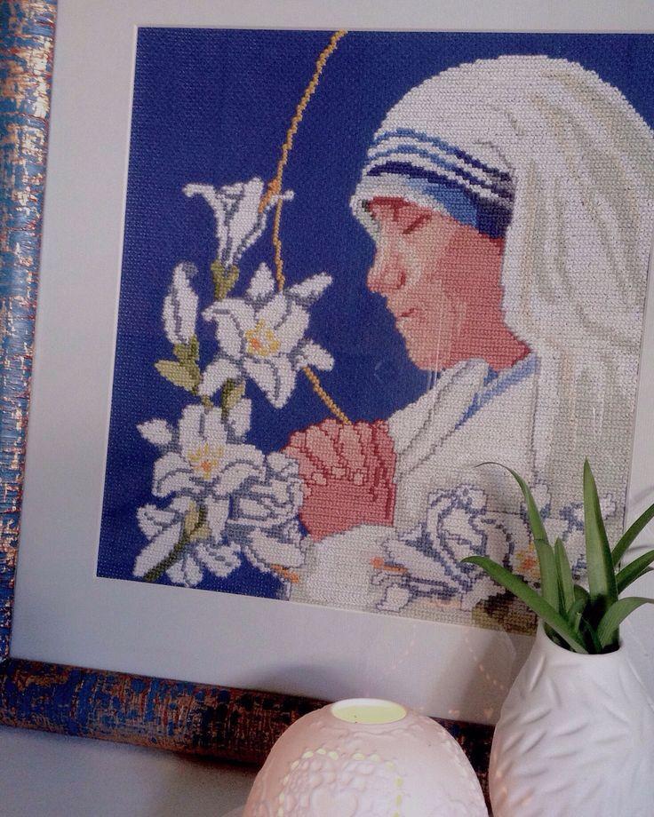 Cross stitch  Madre Teresa di Calcutta